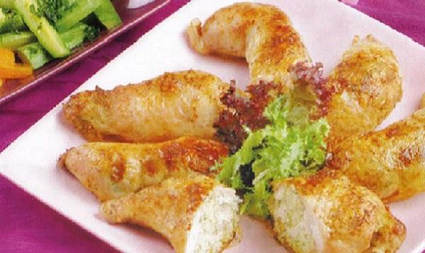 Cuisses de poulet farcies aux crevettes