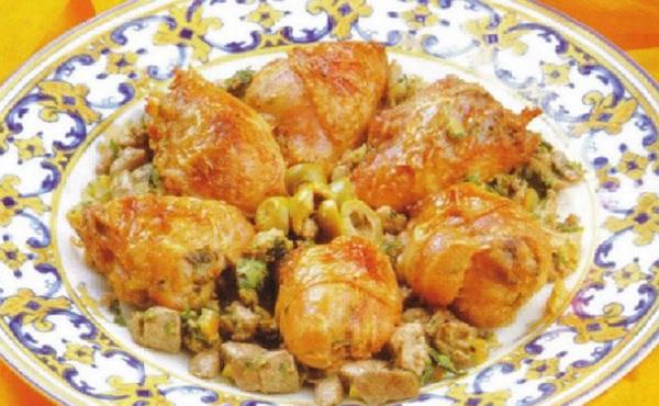 Cuisses de poulet farcies au foie