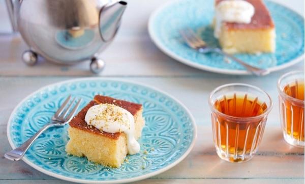 Gâteau de semoule au yaourt et citron