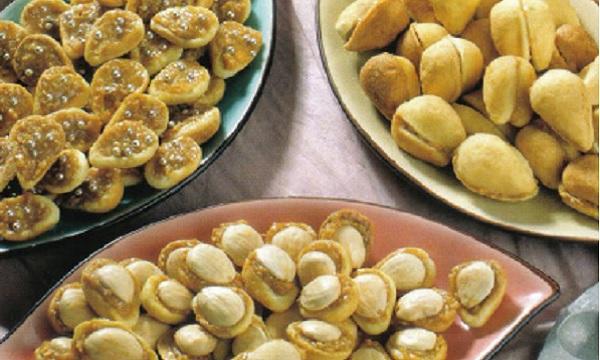 Gâteaux aux amandes et aux noix