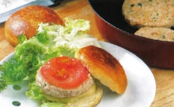 Hamburger au poulet épicé