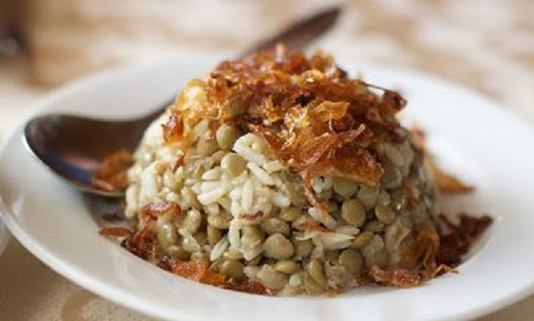 Lentilles au riz et yaourt