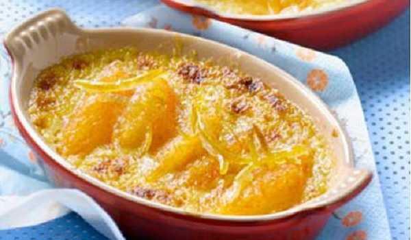 Gratin d'oranges aux amandes