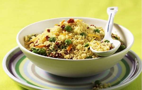 Salade de couscous et de petits pois