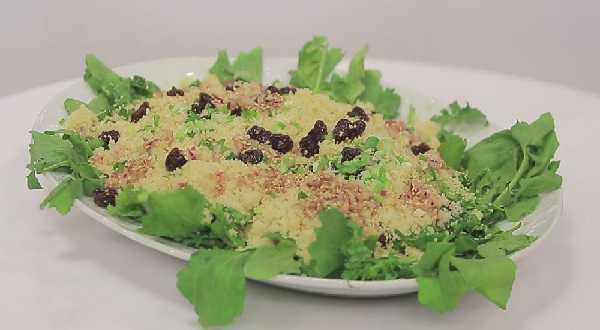 Recette de salade de couscous au jambon de poulet