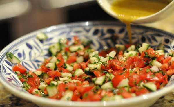 Salade de fenouil, concombre et tomates