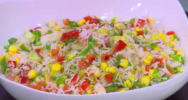 Salade de riz au poivron