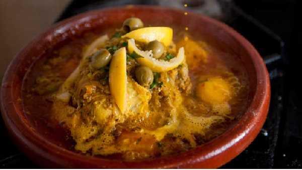 Recette de tajine poulet aux olives et pommes de terre