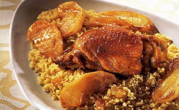 Recette de couscous de poulet aux pommes