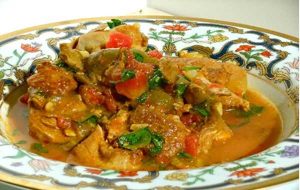 Poulet aux olives fa�on marocaine