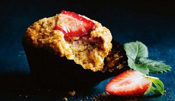 Muffins aux fraises et gingembre