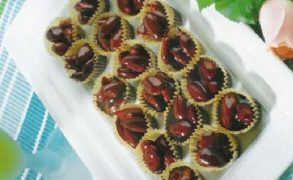 Nougat aux amandes et au chocolat
