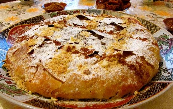 Pastilla aux cailles, coings et raisins