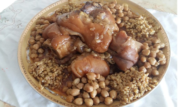 Pieds de veau à la marocaine
