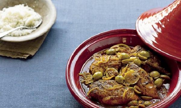 Poulet aux olives façon marocaine