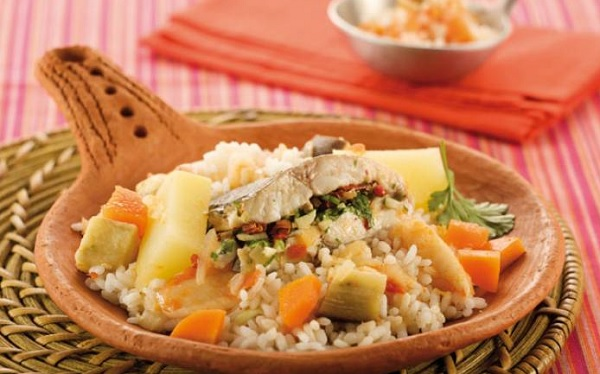 Riz aux légumes et au poisson