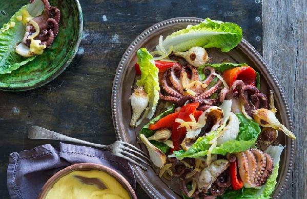 Salade au poulpe