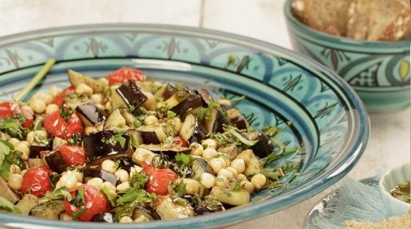 Salade d'aubergines au cumin