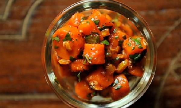 Salade de carottes à l'eau de fleur d'oranger