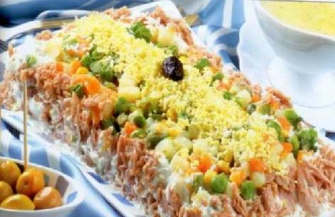Salade composée à la Macédoine et thon