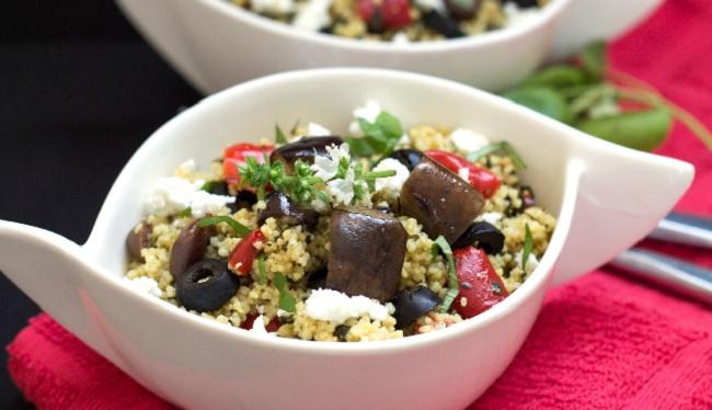 Salade de couscous aux aubergines