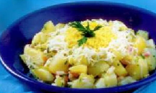 Salade de pommes de terre aux oeufs