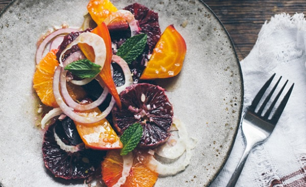 Salade d'oranges aux betteraves