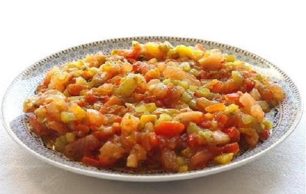 Salade poivrons et tomates