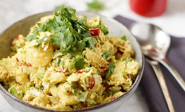 Salade de pommes de terre au tahini