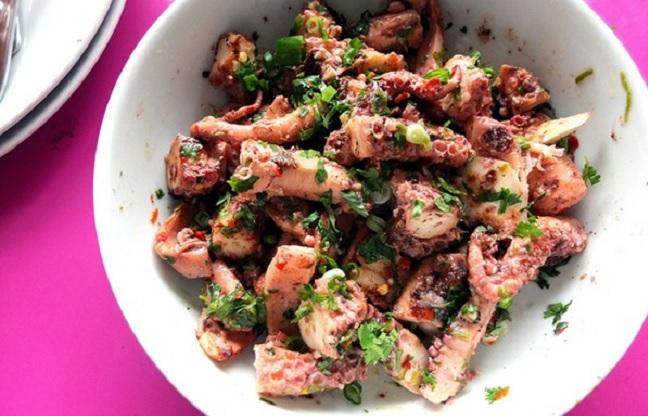 La salade de poulpes à la Tunisienne