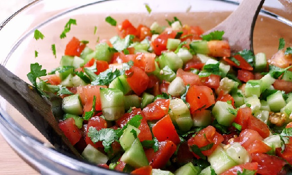 Salade tomate concombre