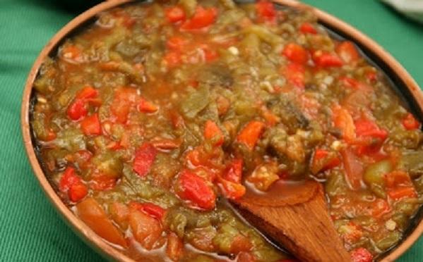Salade de tomates et poivrons