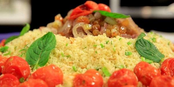 Taboulé au fromage de chèvre et tomates cerises