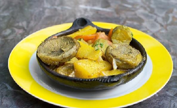 Tajine aux artichauts et pommes de terre