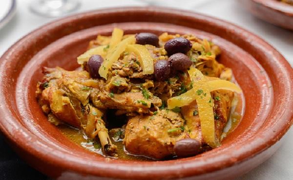 Tajine de dinde aux olives et citrons confits
