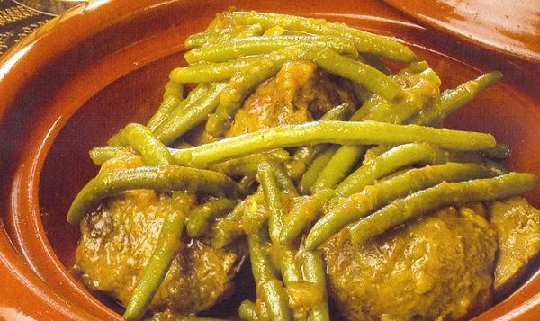 Tajine aux haricots verts et tomates