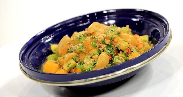 Tajine de légumes végétarien épicé