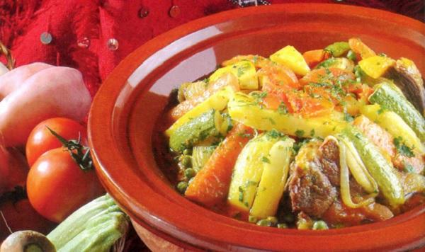 Tajine d'Osso bucco de dinde aux légumes