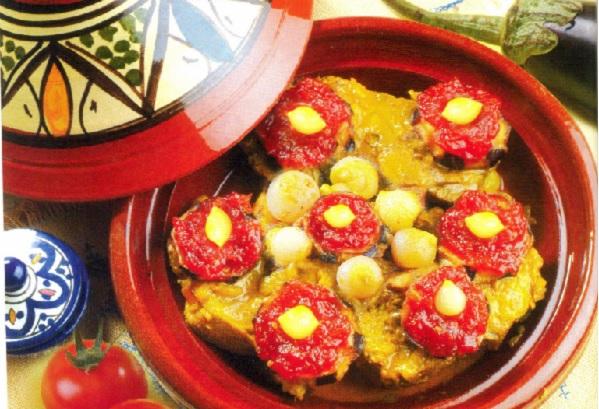 Tajine de viande aux aubergines
