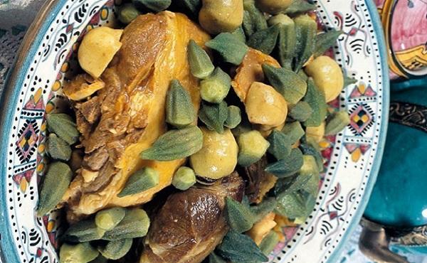 Tajine de viande aux coings et gombos