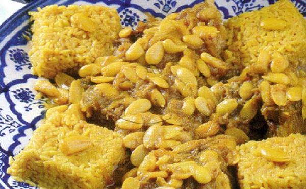 Tajine de viande au riz et amandes-Kedra