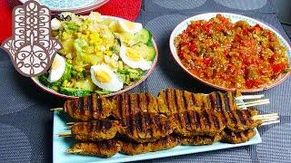 Adana Kebab et Salades turques
