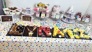 Buffet d'anniversaire pour une jeune fille de 12 ans