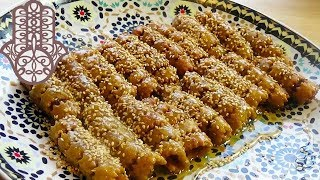 Chebakia fourrée aux dattes et amandes
