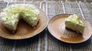 Cheesecake sans cuisson au citron vert spéculoos et yaourt