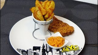 Crispy tenders et potatoes sans friture, façon KFC sans culpabiliser