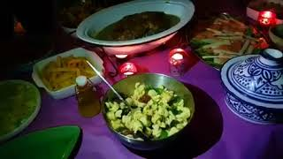 Dîner chez ma cousine Ghizlane  tasty gourmandise