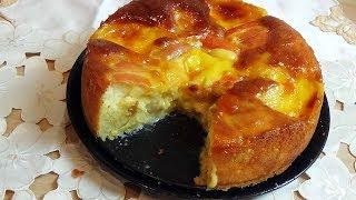 Gâteau aux pommes à la crème patissière