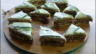 Gâteau de pain de mie salé Idée pour l'apéritif