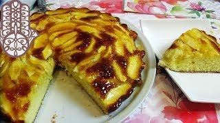 Gâteau de semoule aux pommes facile et pas cher